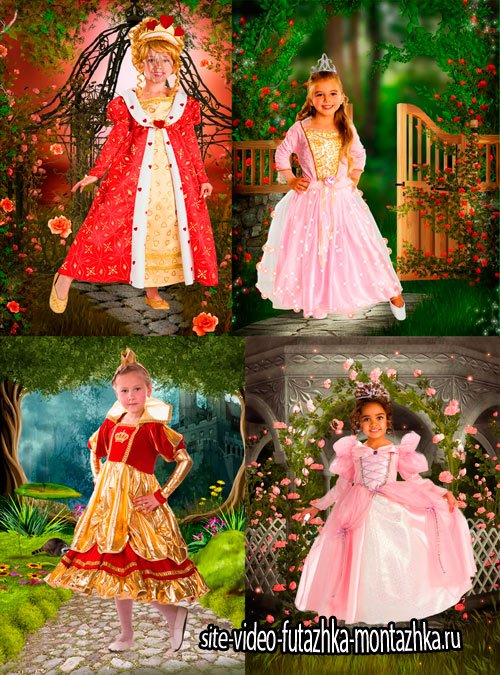 Шаблоны для фотошопа  - Девочки из сказки