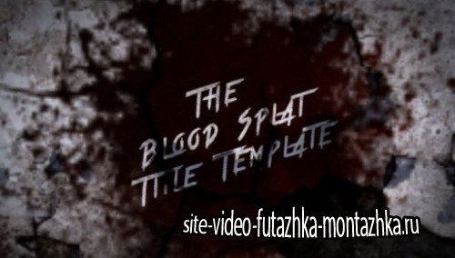 Blood Splat Title - Project for After Effects