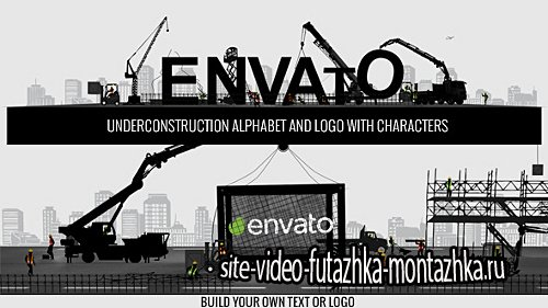 Logo Constructor-Alphabet Builder With Characters - Project for After Effects (Videohive)