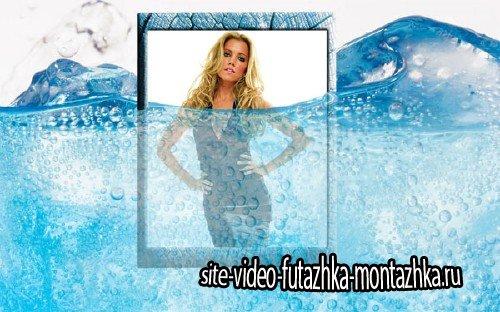 Рамка для фотошоп - Частично под водой