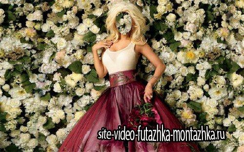 Шаблон psd - Окутана цветами