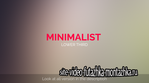 MInimalist Lower Third - Project for After Effects (Videohive)