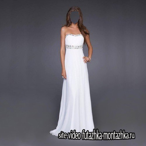 Шаблон для Photoshop - В белом платье