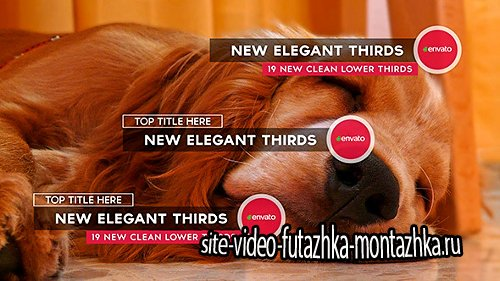 New Elegant Thirds - Project for After Effects (Videohive)
