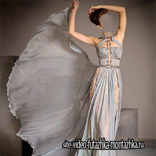 Шаблон для фото - Фотосессия в красивом платье