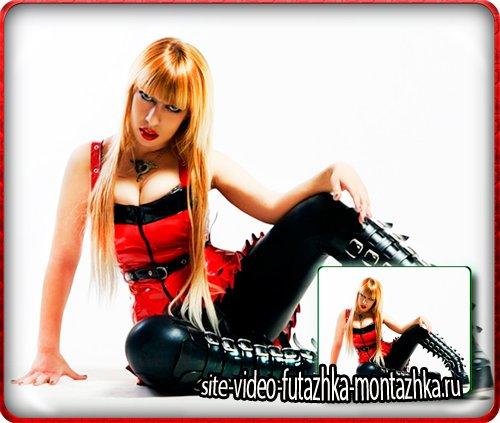 Шаблон для девушек - Красный верх, черный низ