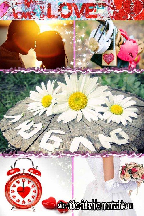 Свадебные и просто романтические фоны и подложки