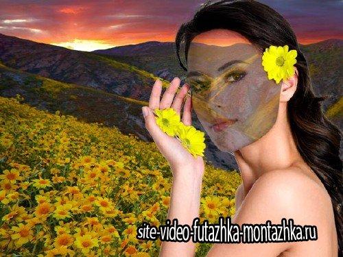 Шаблон женский - Цветущая поляна