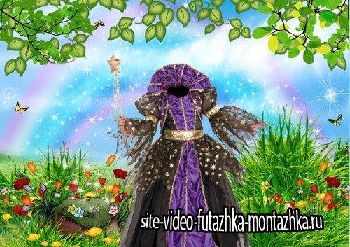 Шаблон psd - Платье сказочной принцессы