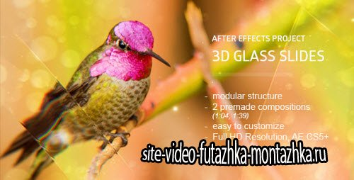 Glass Slides 3D - Project for After Effects (Videohive)
