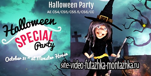 Halloween Party/Wish - Project for After Effects (Videohive)