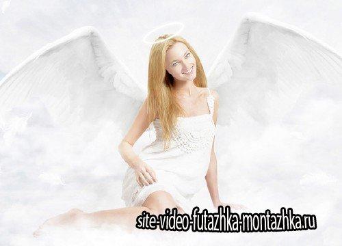 Шаблон для фотомонтажа - Девушка ангел