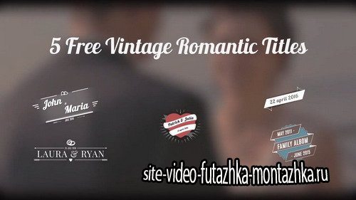 5 Vintage Wedding Titles - Project for After Effects