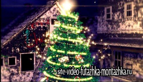 футаж - Новогодняя елка