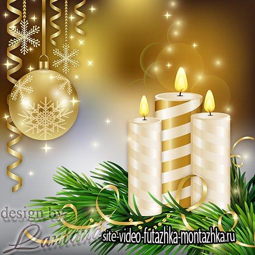 PSD исходник - Волшебный праздник новогодний 35