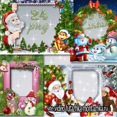 Новогодние и рождественские рамочки для детей - Главный праздник года