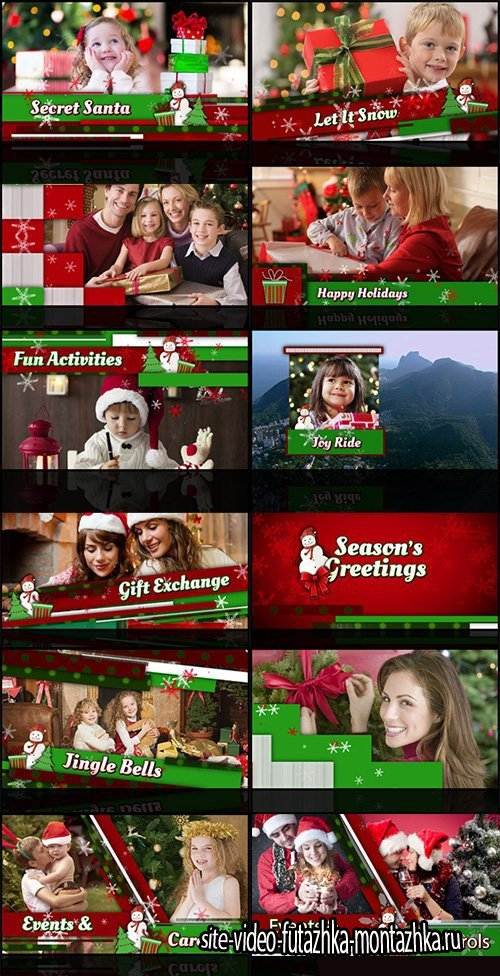 Christmas Holiday Slideshow - After Effects Project