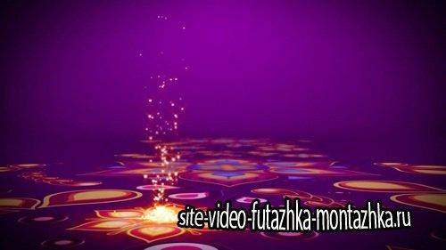 Футаж - Вспышки на цветочной дороге