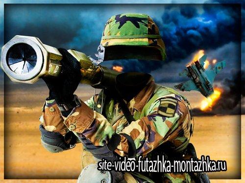 Шаблон фотошоп - Меткий солдат