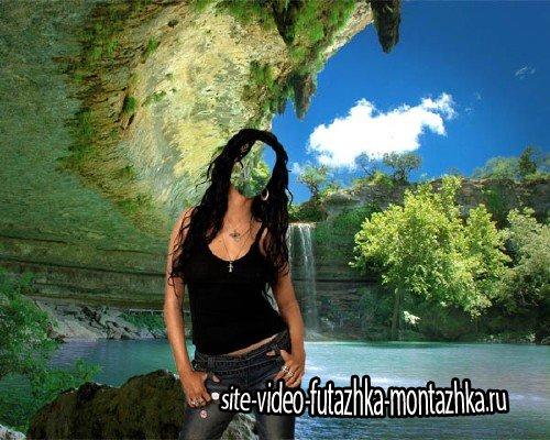 Шаблон psd женский - Гамельтон Пул красивое озеро