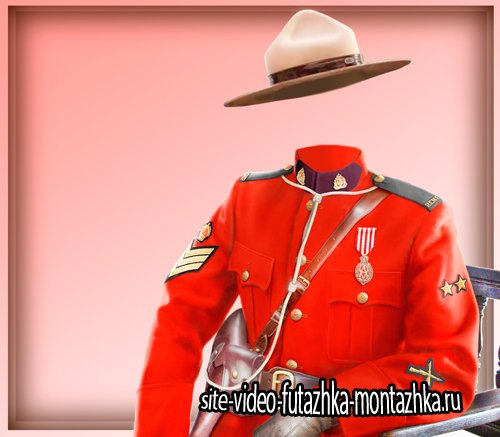 Фотошаблон для фото - Офицер Канады