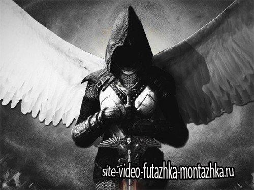 Шаблон для фотомонтажа - Ангел в доспехах