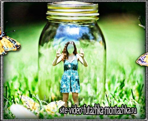 Photoshop - Девушка в баночке
