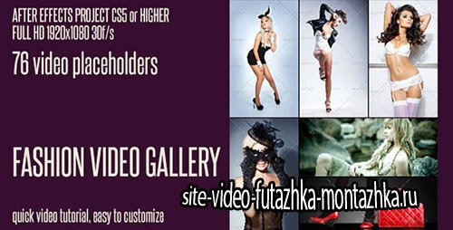 Fashion Video Gallery - Project for After Effects (Videohive)