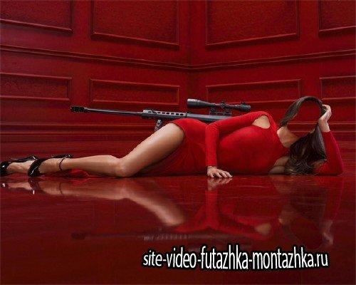 Шаблон для девушек - Леди в красном