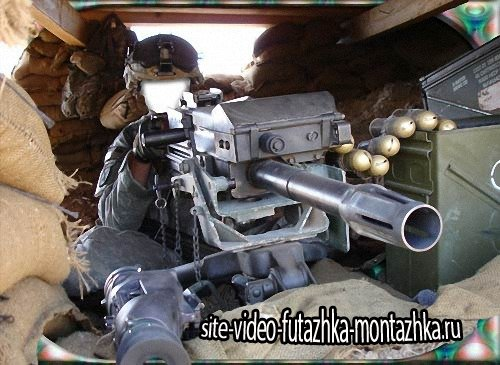 Мужской шаблон для фотошопа - Пулеметный дзот