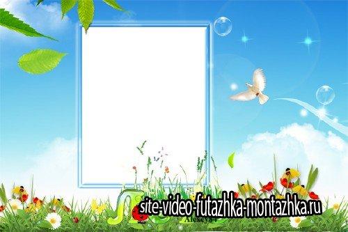 Рамка для фотошоп - Любимое лето