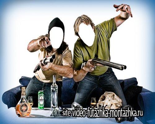 Psd фотошоп - Селфи собутыльников