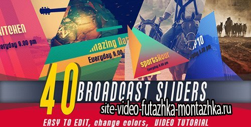 Broadcast Slider - Project for After Effects (Videohive)