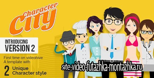 Character City - Explainer Video Toolkit V2 - Project for After Effects (Videohive)