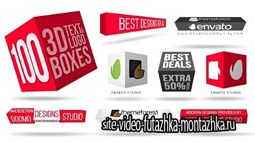 3D Text & Logo Boxes - Project for After Effects (Videohive)