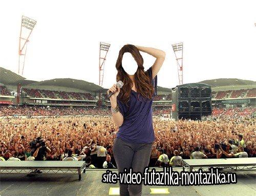 Фотошаблон - Звезда на концерте