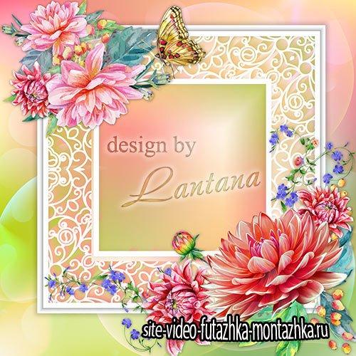 Psd исходник - Цветы танцуют вальс осенний