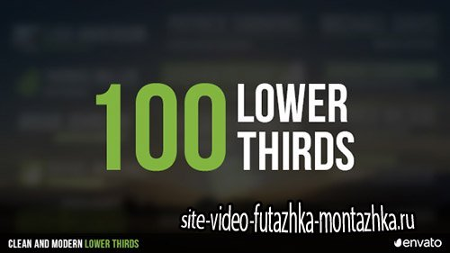 100 Lower Thirds 17408181 - Project for After Effects (Videohive)