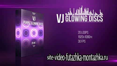 VJ Purple Glowing Discs - Motion Graphics (Videohive)