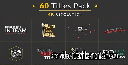 60 Titles Pack - Project for After Effects (Videohive)
