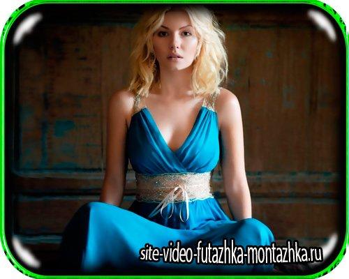 Шаблон для фото - Синее платье