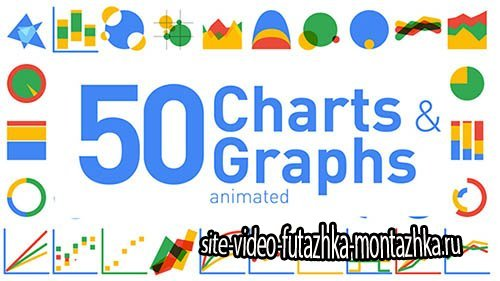 50 Animated Charts & Graphs - Project for After Effects (Videohive)