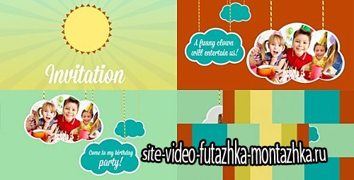 Kids Intro Clouds on Ropes - Project for After Effects (Videohive)