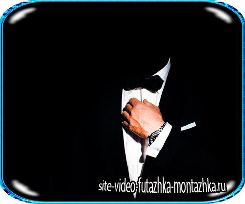 Psd шаблон - Мужчина в чёрном костюме