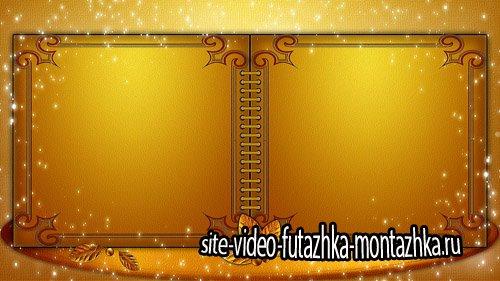 Футаж для текста Золотой ретро-альбом - Footage golden retro album