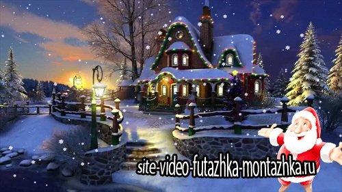 """Новогодний футаж HD - Где живет """"МОРОЗ"""""""