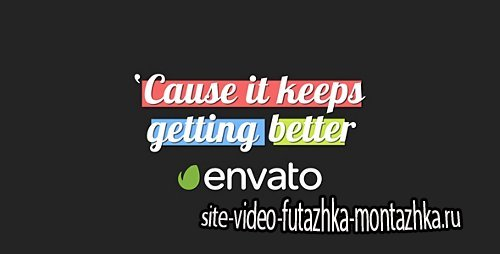 Lyrics Kinetic Typography - Project for After Effects (Videohive)