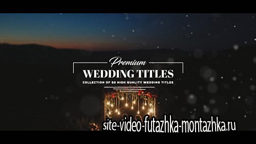 Premium Wedding Titles - After Effects Template