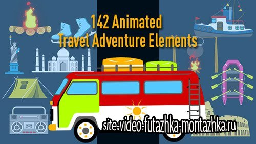Animated Travel Adventure Elements - Project for After Effects (Videohive)