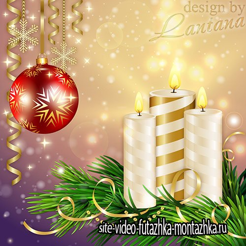 PSD исходник - Новый год нам дарит волшебство 16